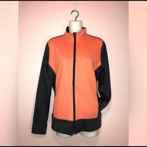 Jackets & Blazers - Coral & Gray Zip Up Jacket